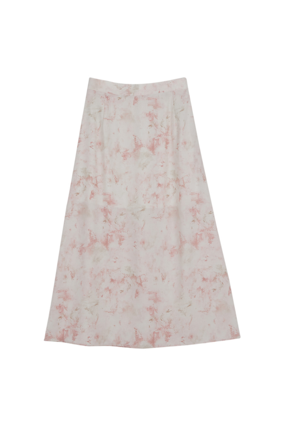 Touch marbling maxi skirt
