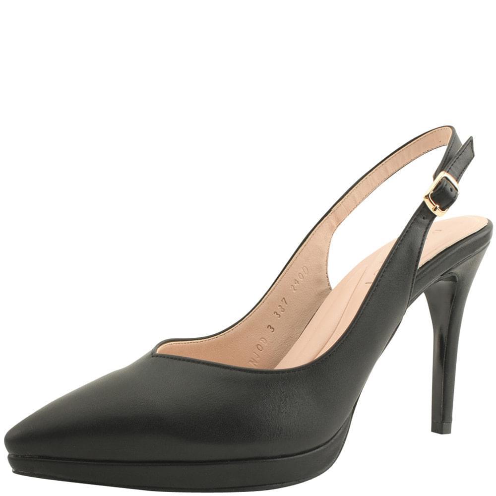 Slingback Gabosi Stiletto High Heels Black