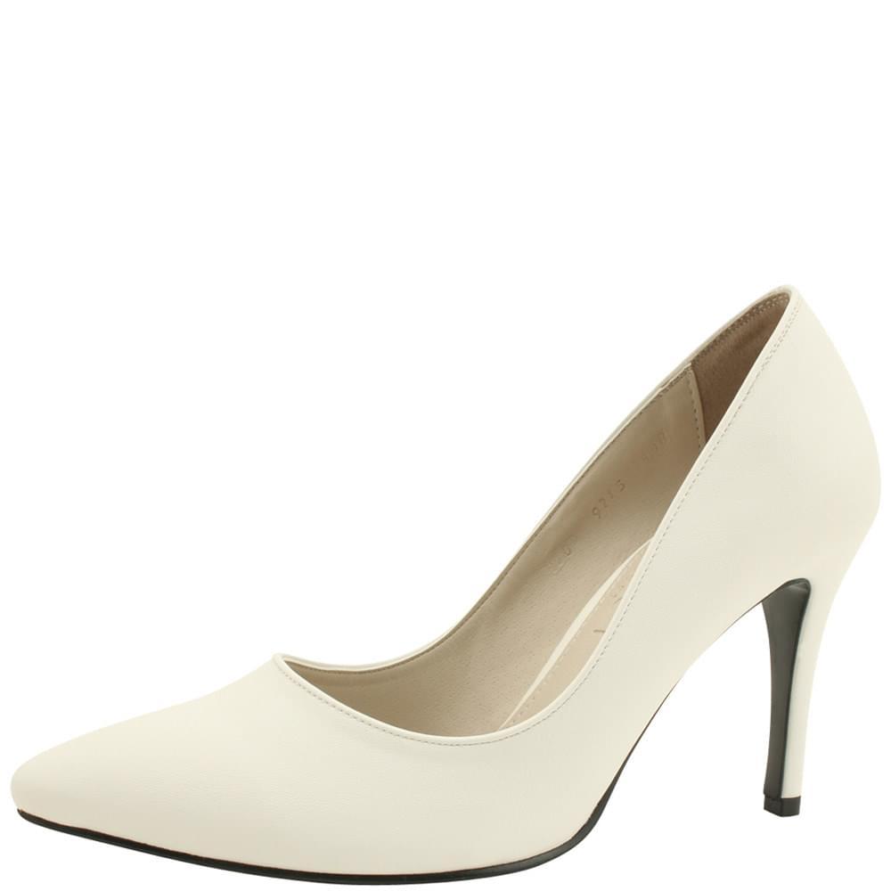Stiletto High Heel Simple Shoes 9cm White