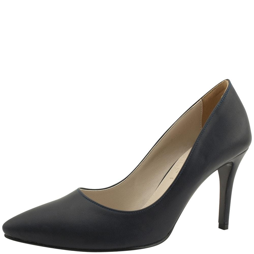 Stiletto High Heel Simple Shoes 9cm Navy
