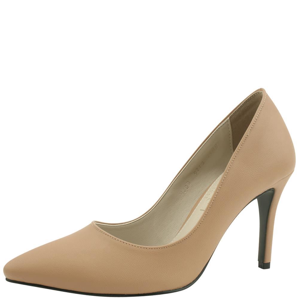 Stiletto High Heel Simple Shoes 9cm Jean Beige