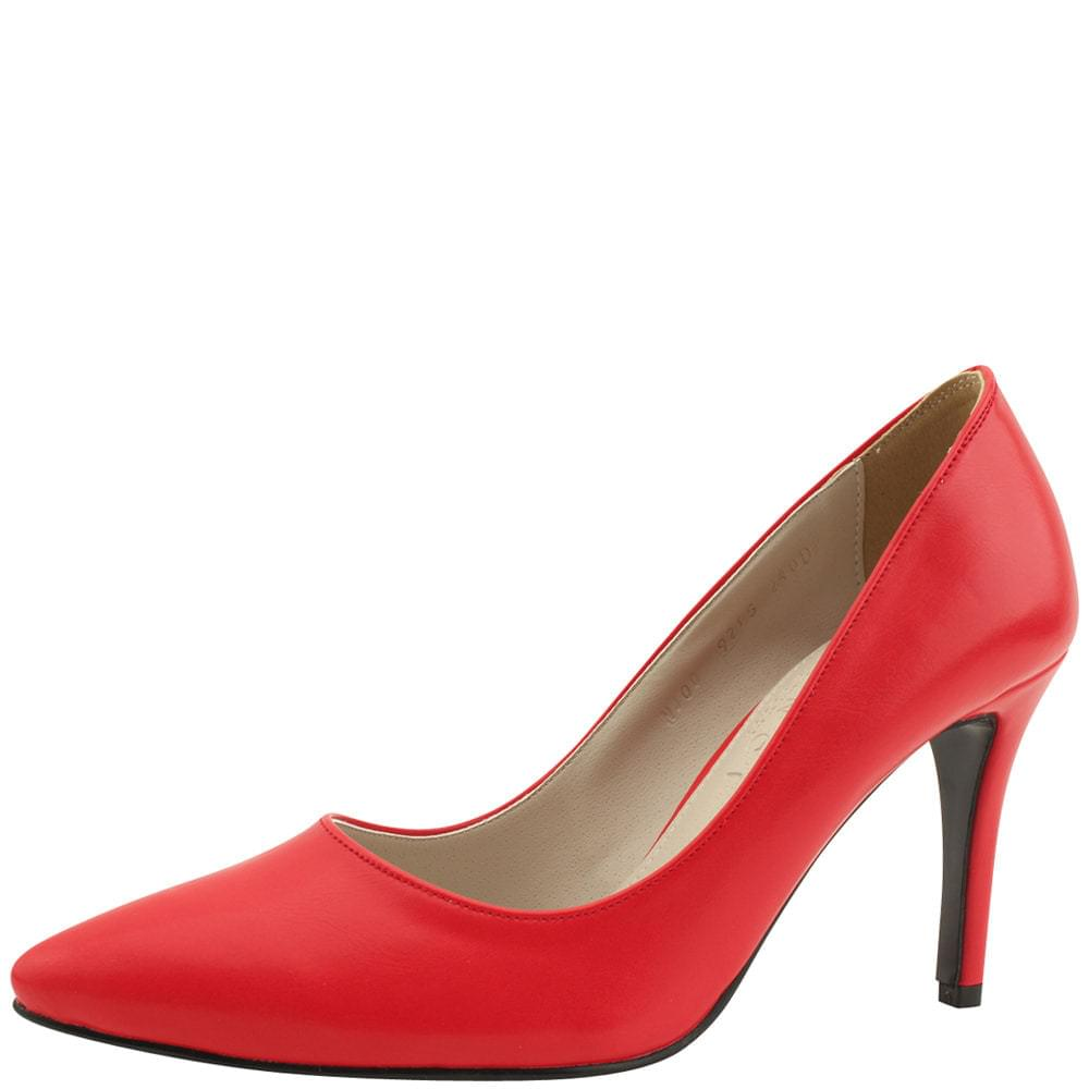 Stiletto High Heel Simple Shoes 9cm Red