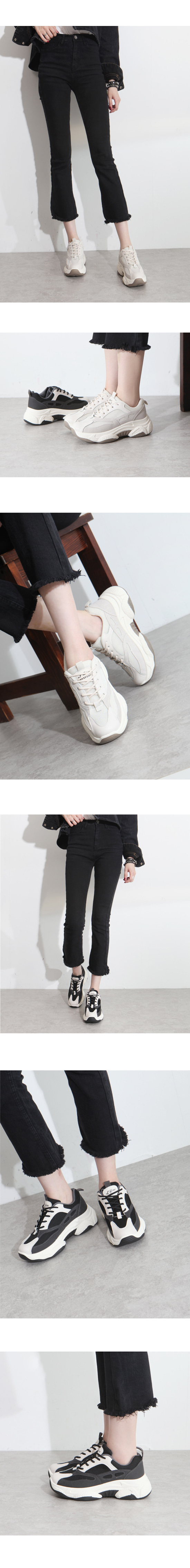 Mesh Ugly Shoes Sneakers 5cm Black