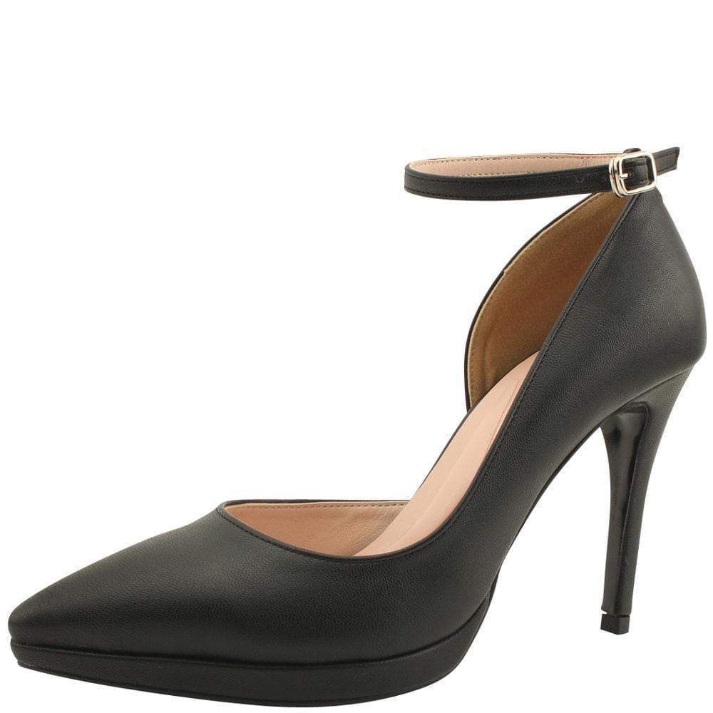 Gabosi Stiletto Strap High Heels Black