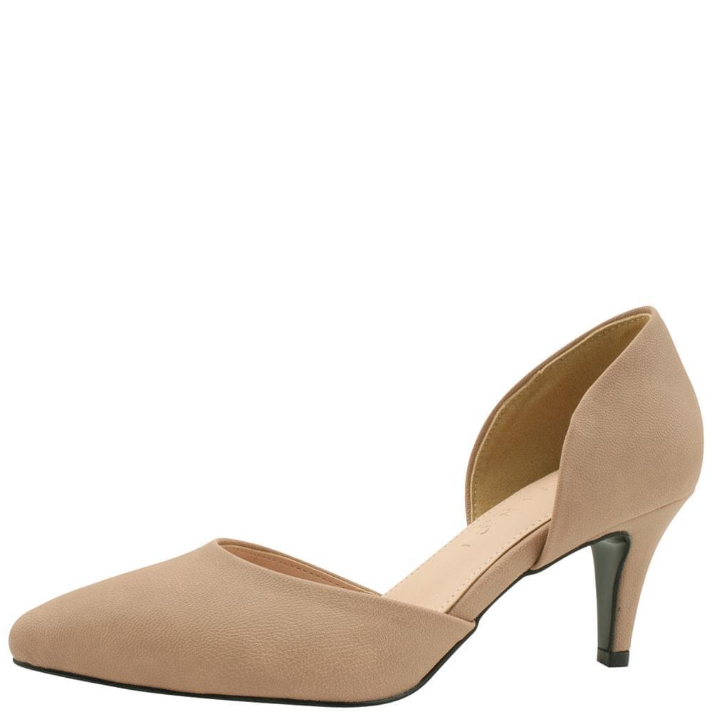 Side Open Stiletto Heel 7cm Pink