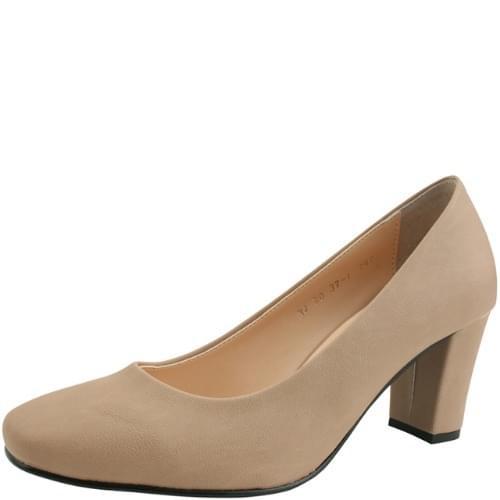Square Nose Simple High Heel Pumps 7cm Pink