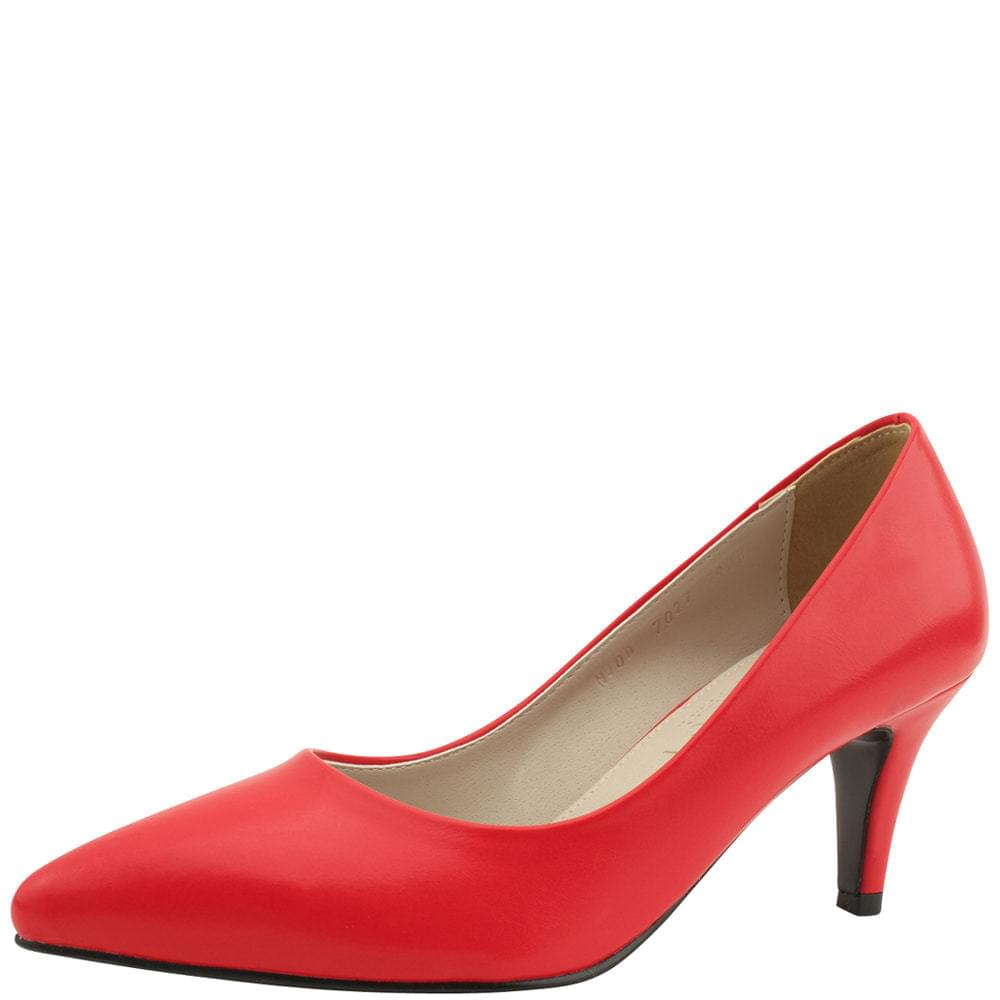 Stiletto high heel basic shoes 7cm red