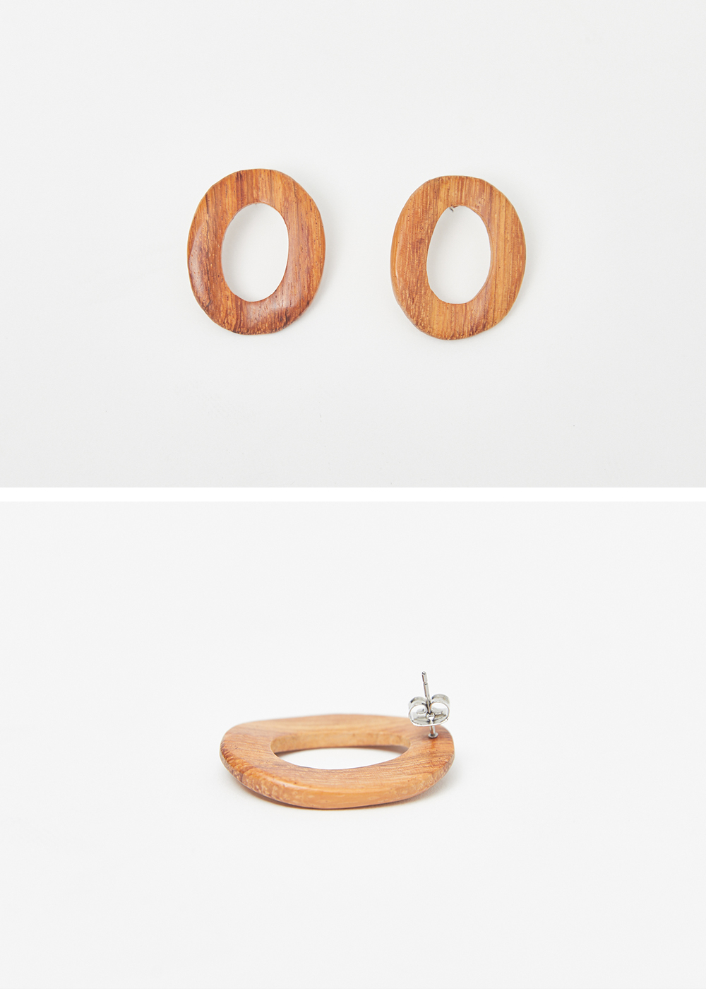 Oval wood ring