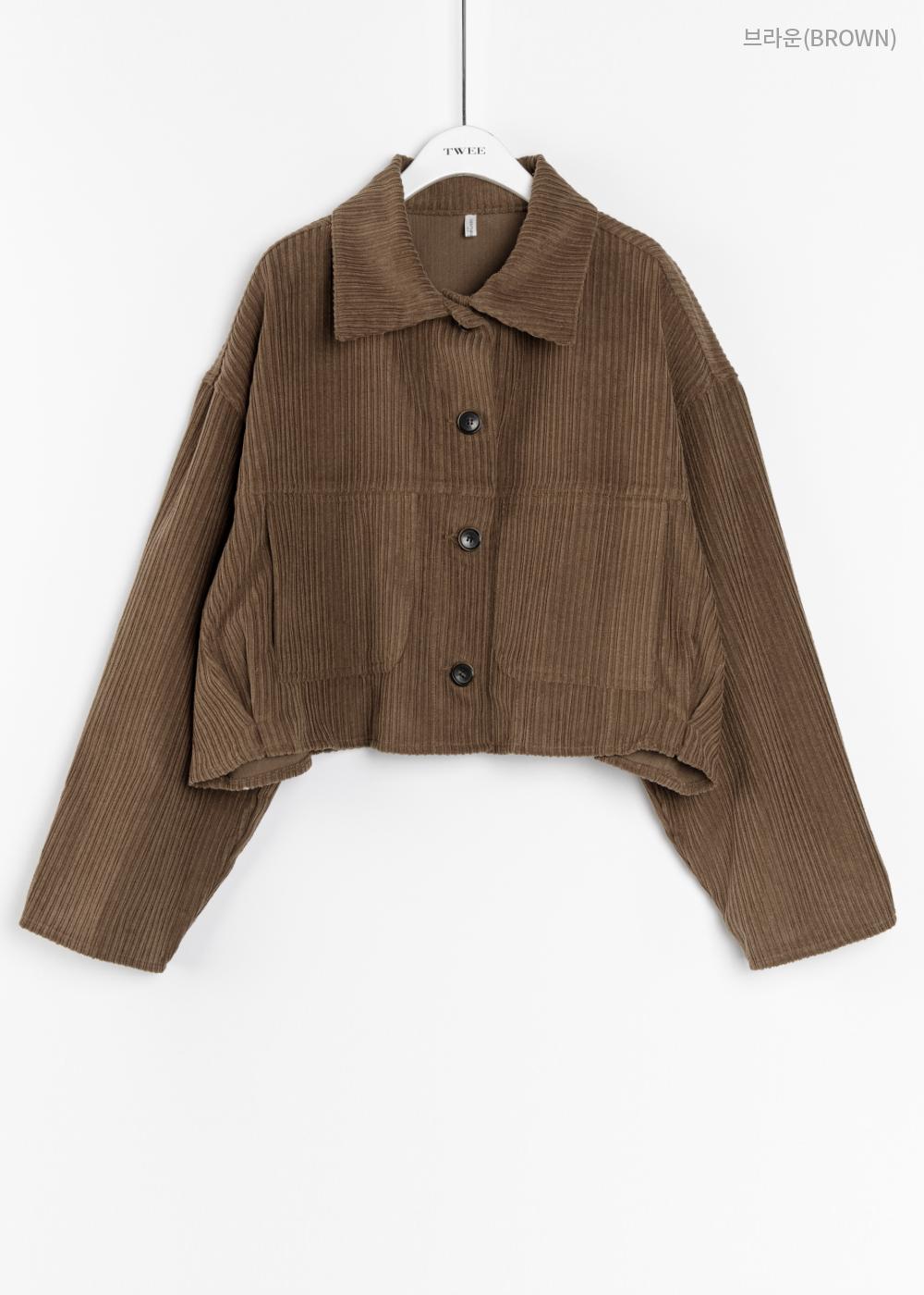 Corduroy short jacket