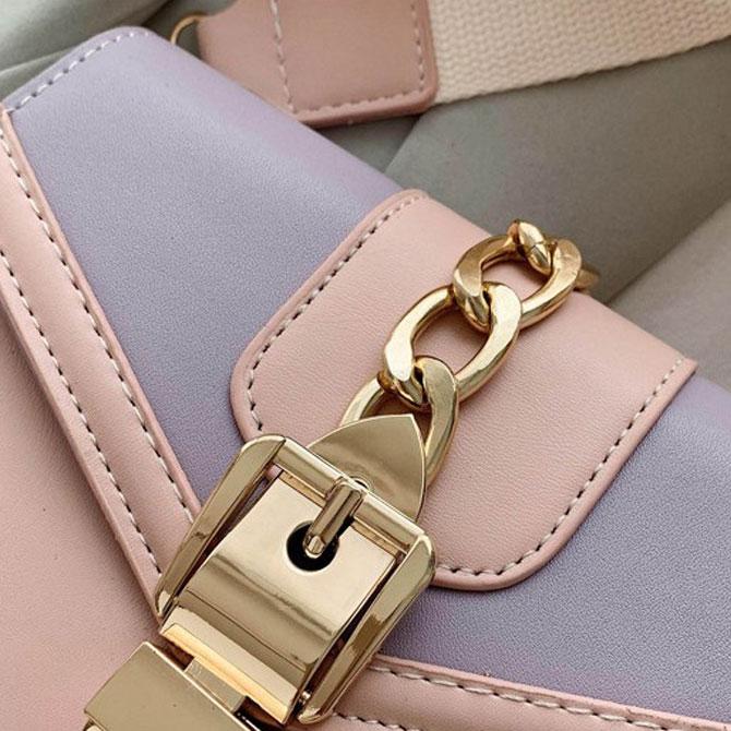 Lovely gold chain-colour cross-body bag