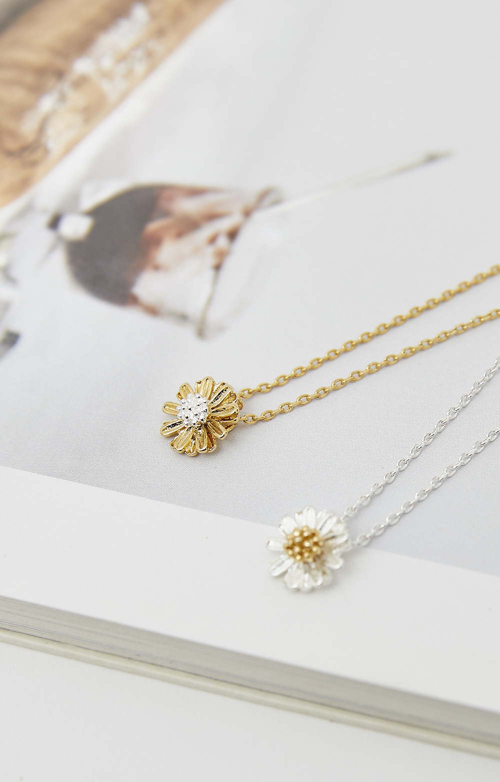 Small dandelion necklace