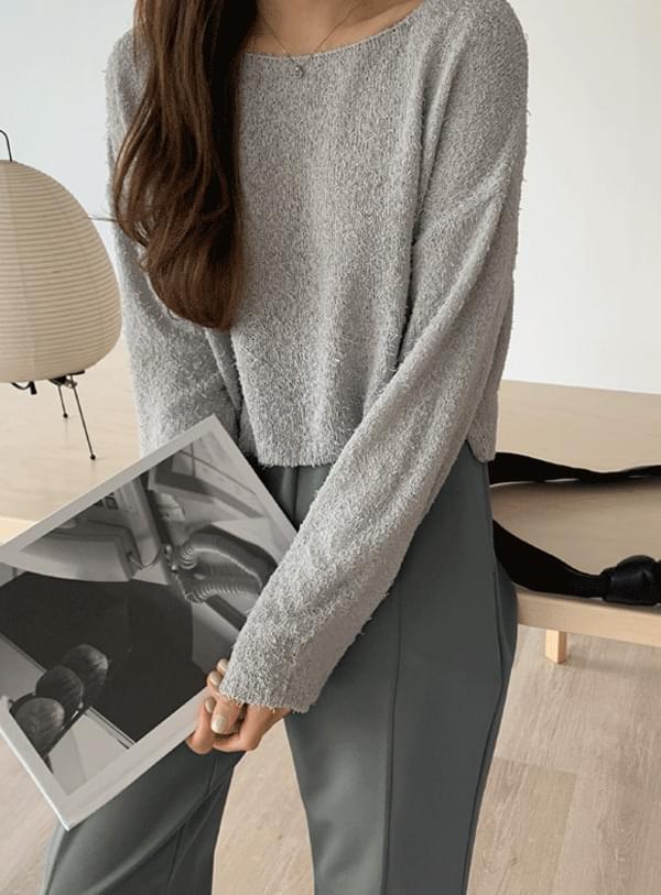 Mer crop knit / gray