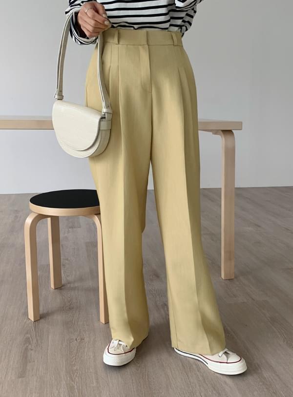 Bow slacks pants / yellow
