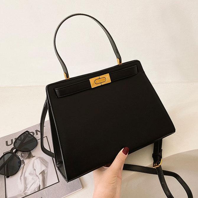 Yen Modern Luxury Gold Button Shoulder Bag
