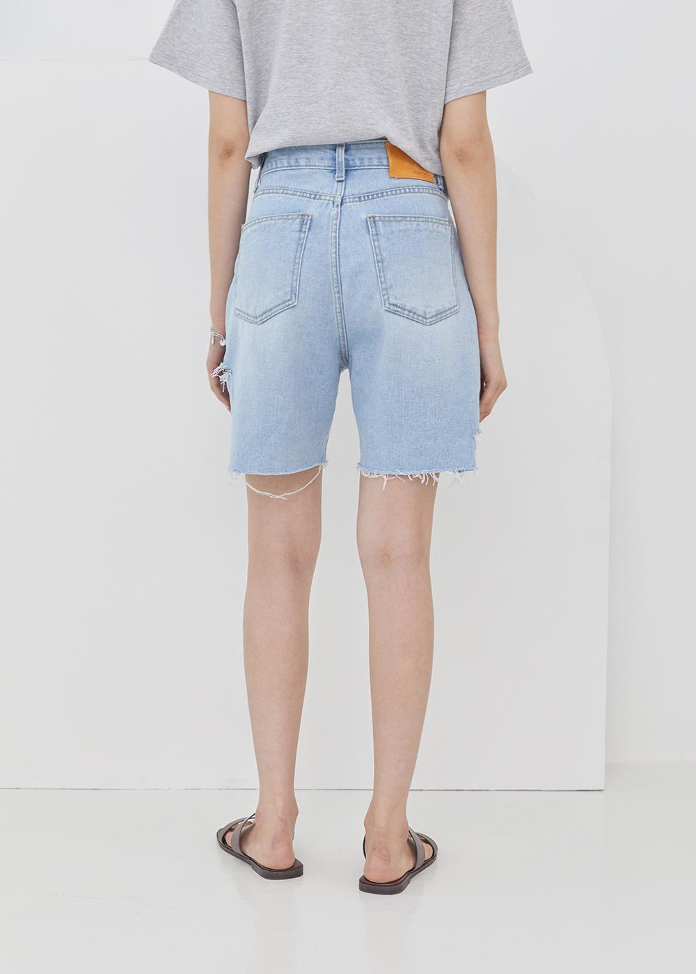Side damage short pants