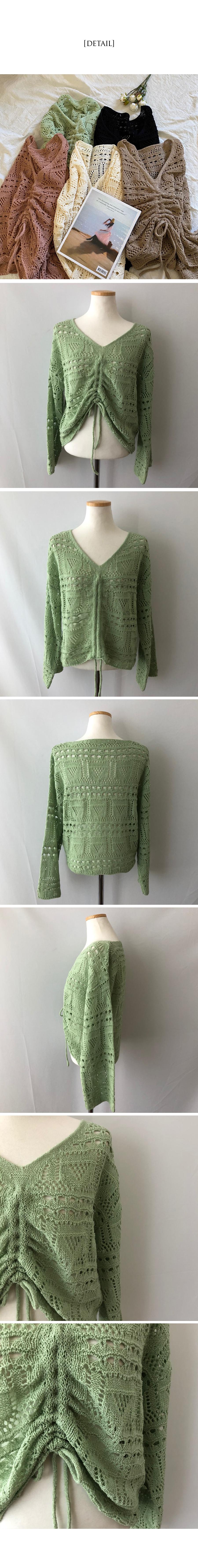 Bohemian Punching Booklet Shirring Knitwear