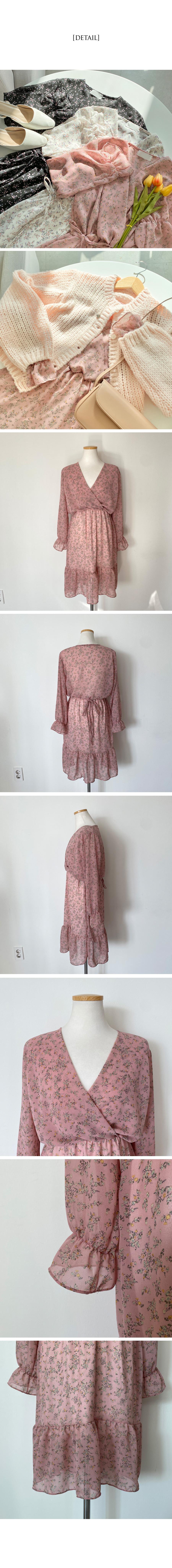 Miracle Flower Chiffon Wrap Dress