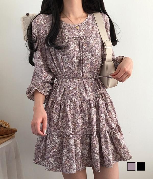 Derosa Flower Cancan Mini Dress