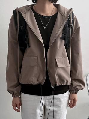 String Hood Field Jacket