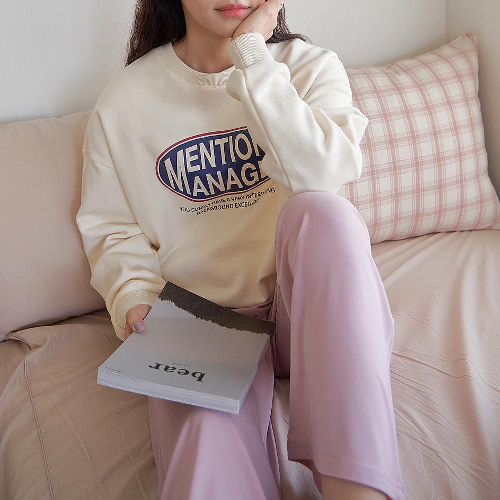Kitsch Rouge Printing Sweatshirt