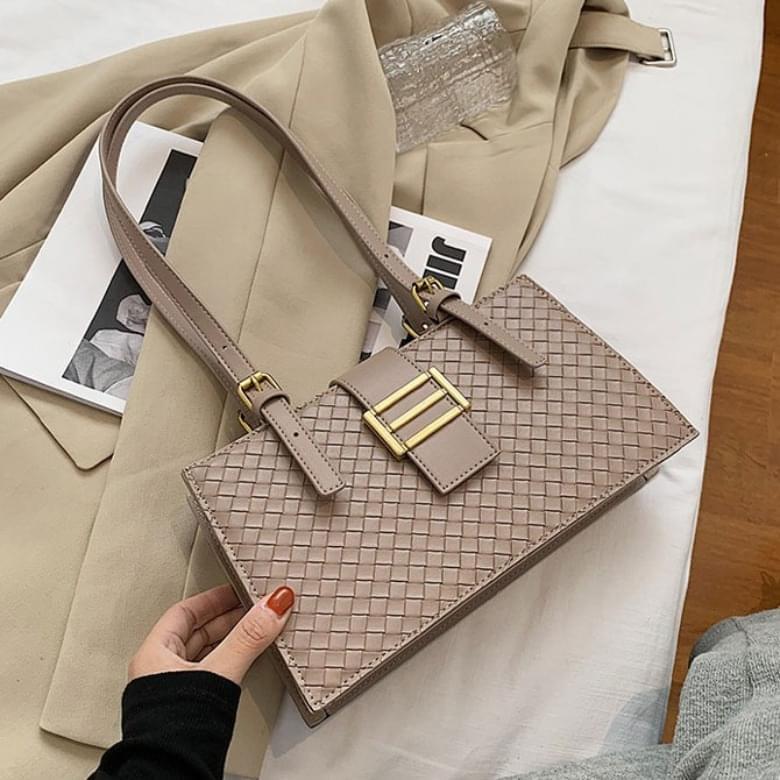 Modern Retro Gold Button Shoulder Bag