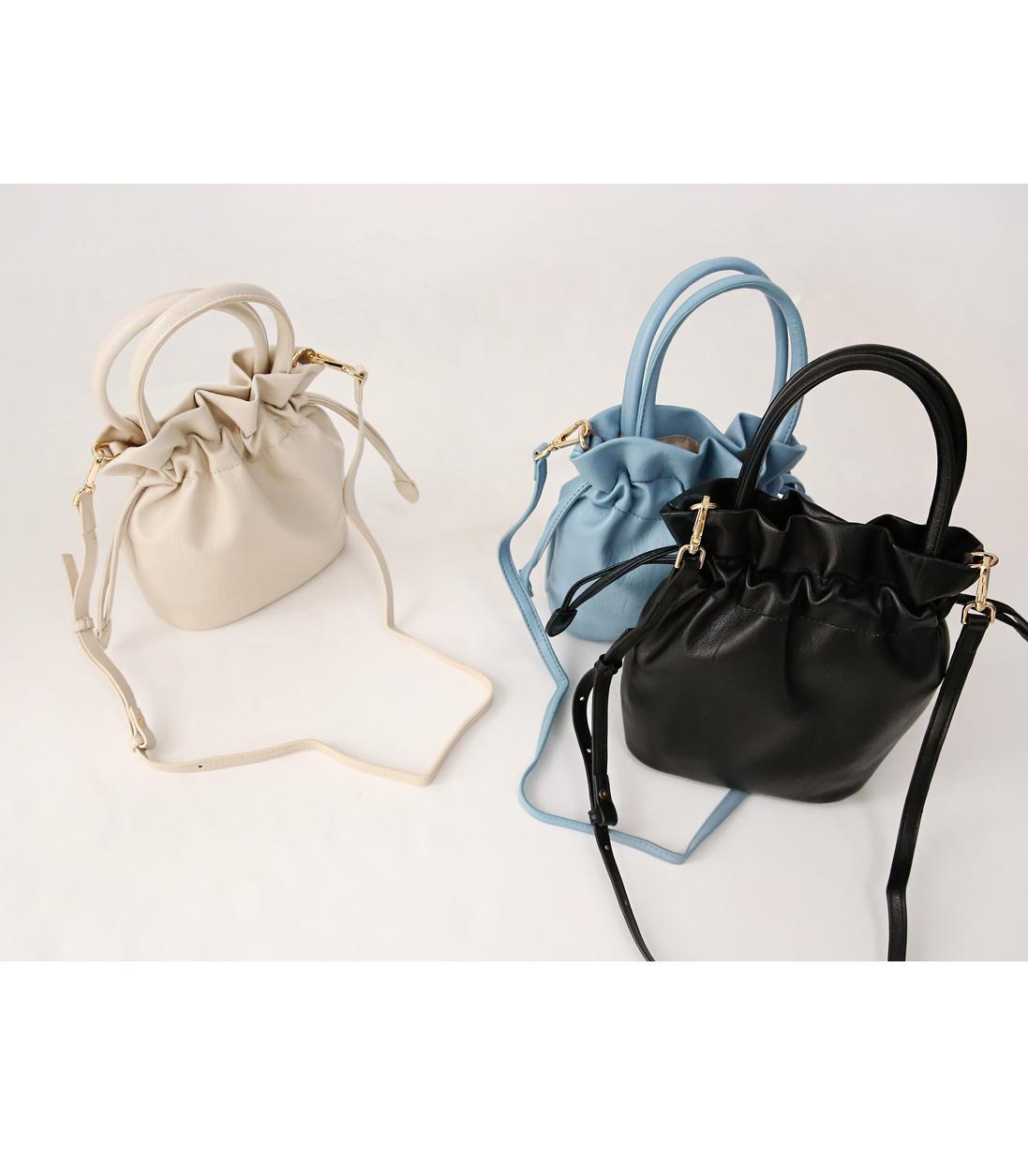 Drawstring Top Handle Handbag