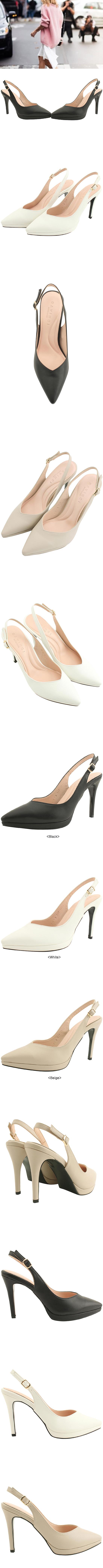 Slingback Gabosi Stiletto High Heel Beige