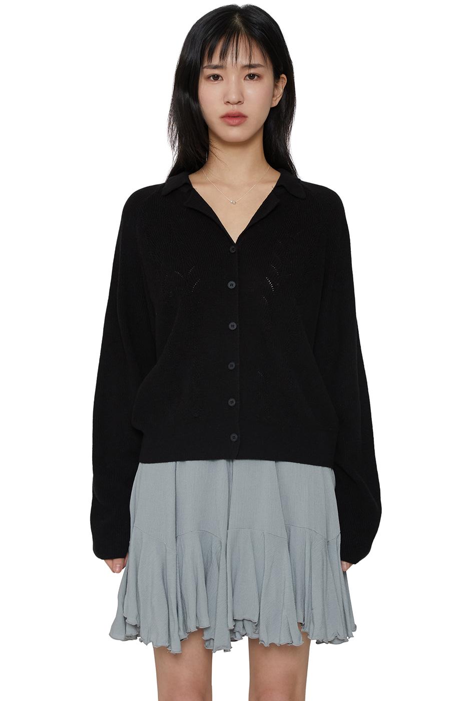 Spring Open Collar Knitwear Cardigan
