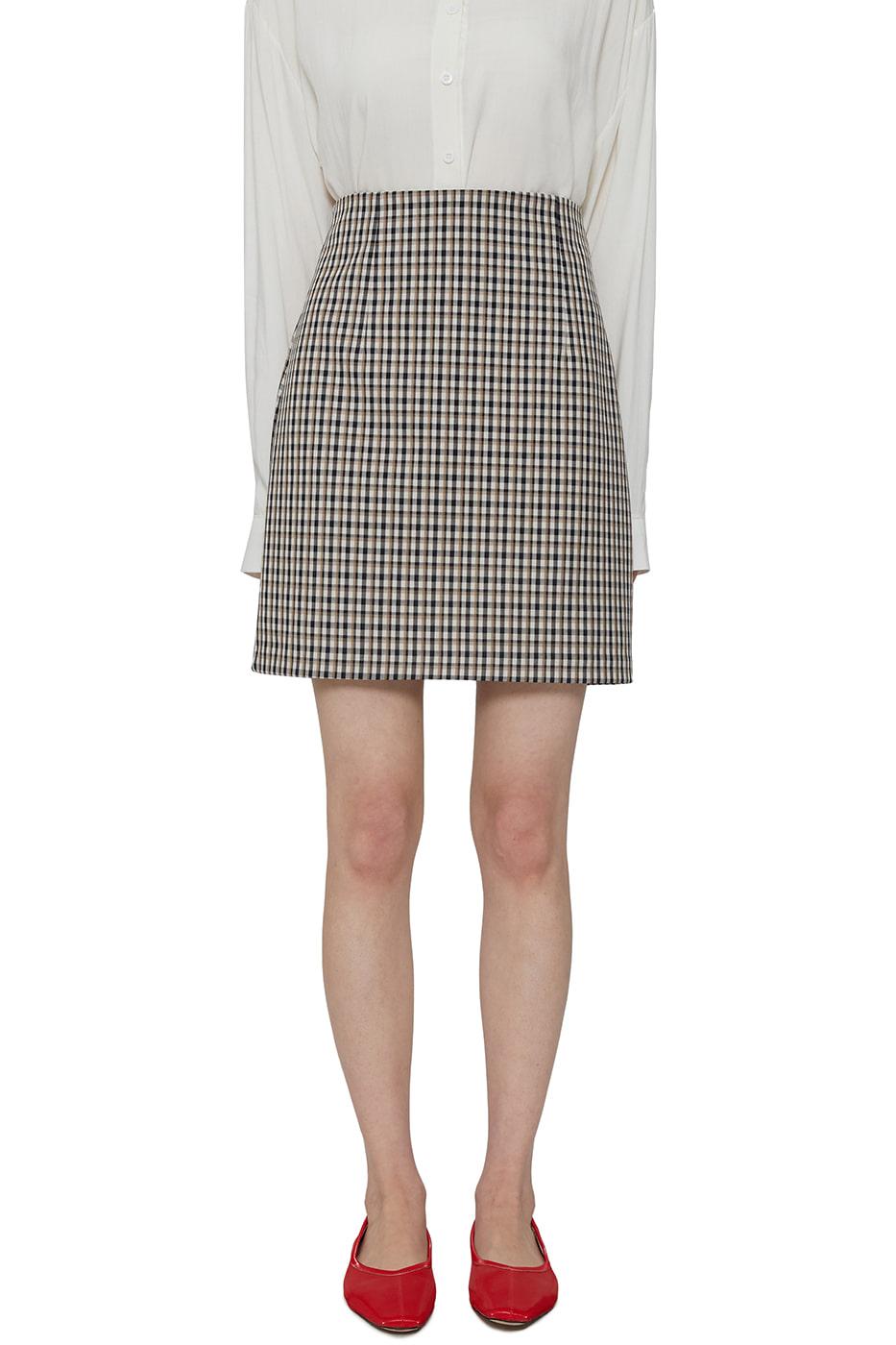 Charming check mini skirt