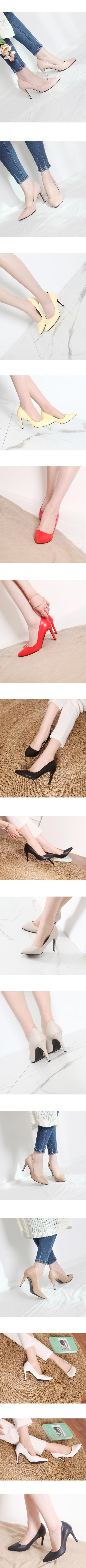 Stiletto High Heel Simple Shoes 9cm Yellow