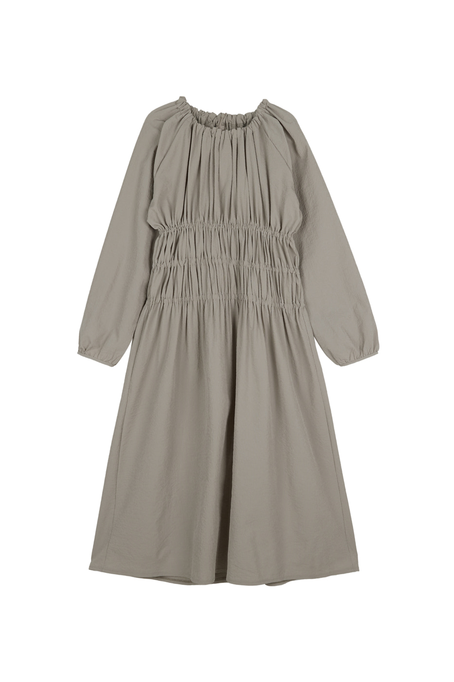 Bubble shirred maxi dress