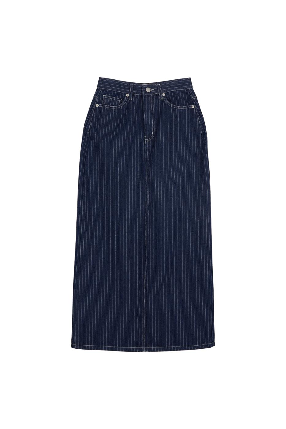 Retro striped maxi skirt