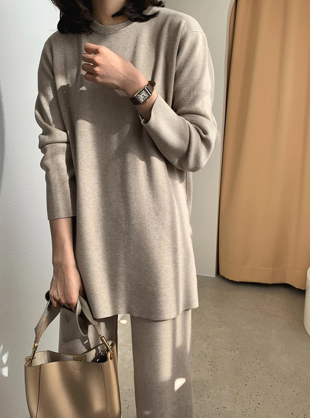 《Planned Product/Set Recommendation》 Lounge Long Slit Knitwear