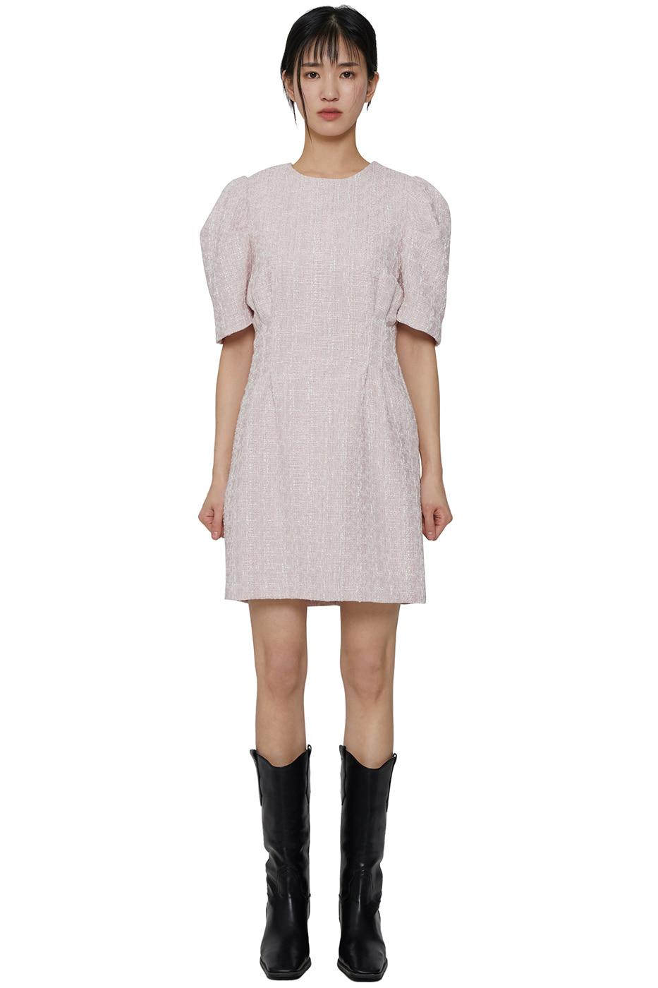 Holic tweed puff mini dress