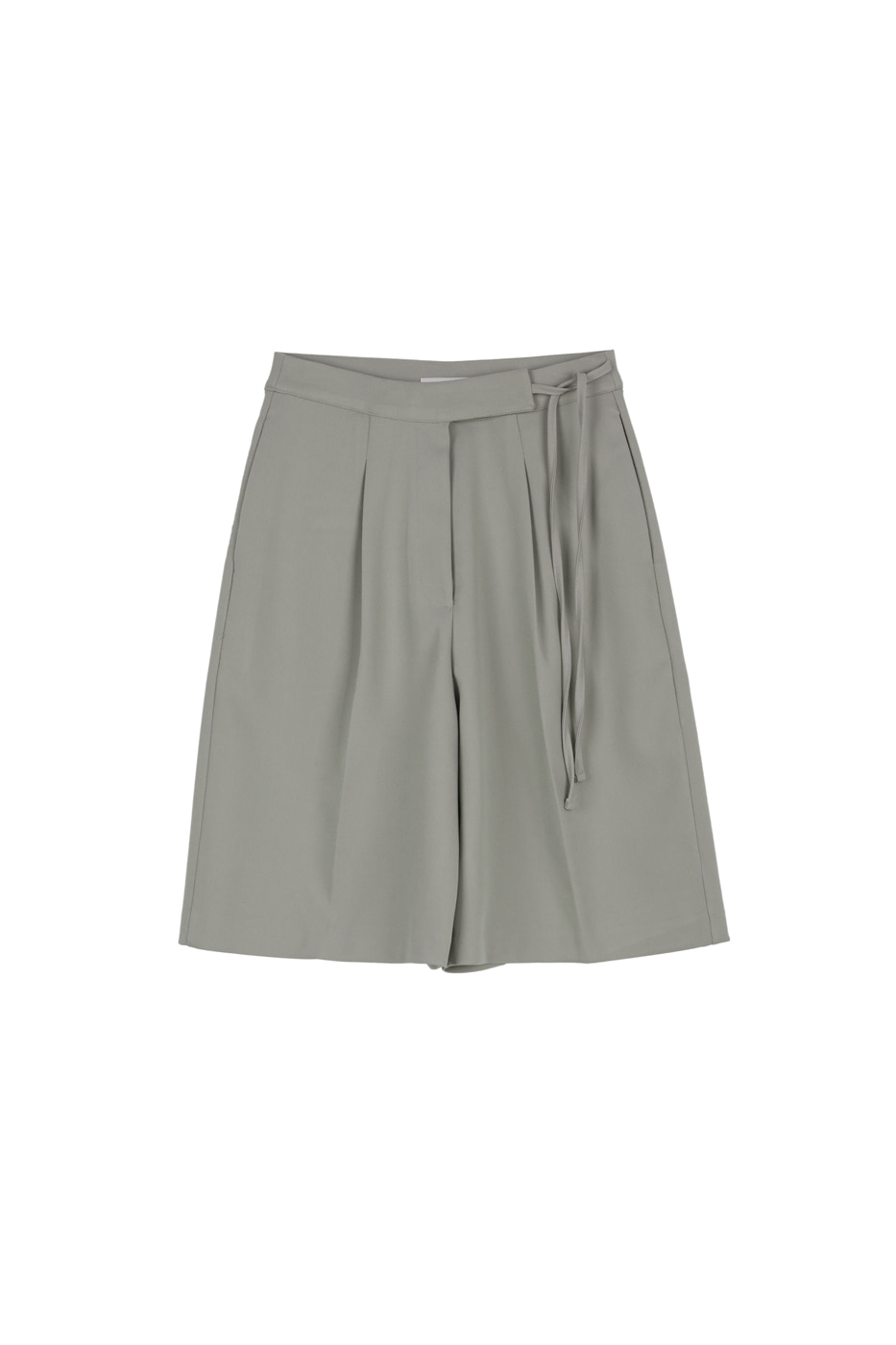 Belted tailored half shorts