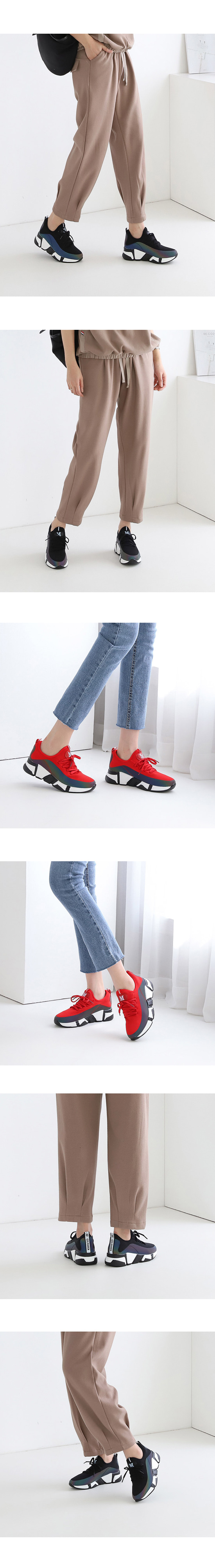 Knitwear Soft Casual Sneakers Red