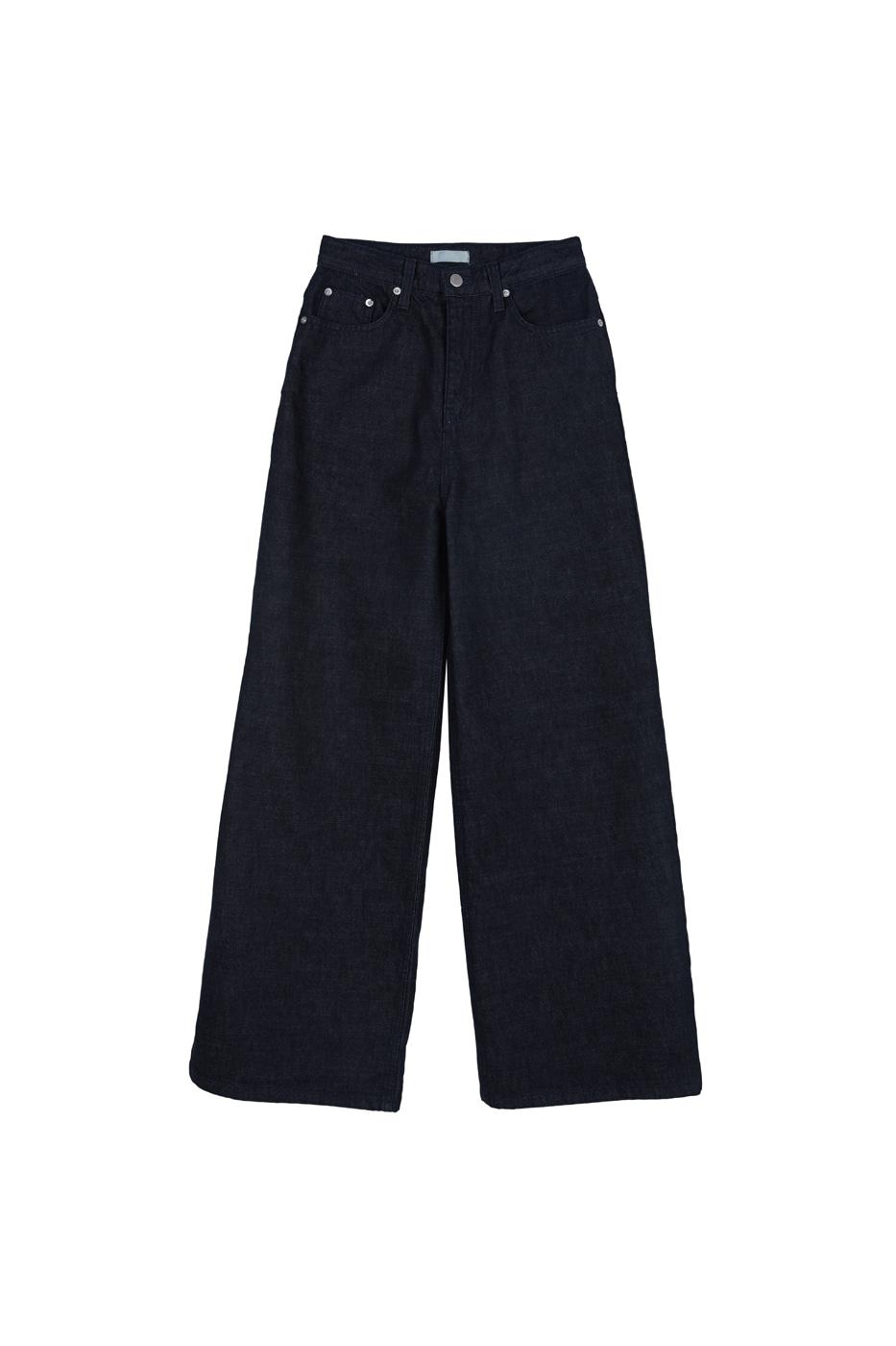 Deer blue wide jeans