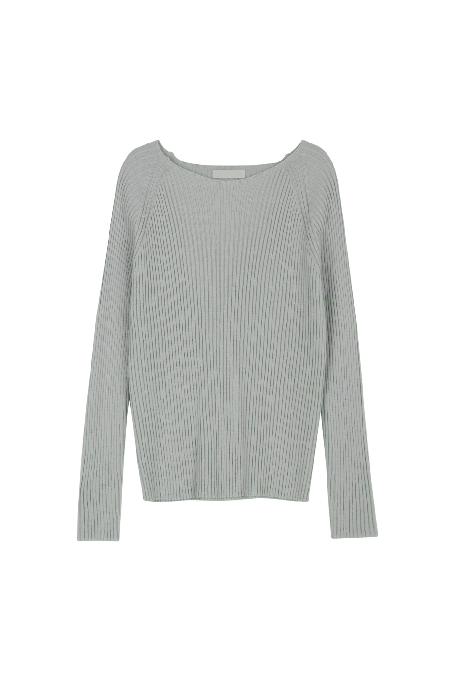 Boat Ribbed Crew Neck Knitwear