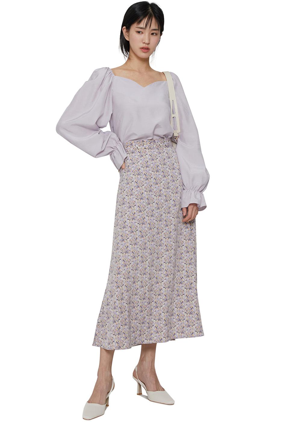 Dren flower maxi skirt