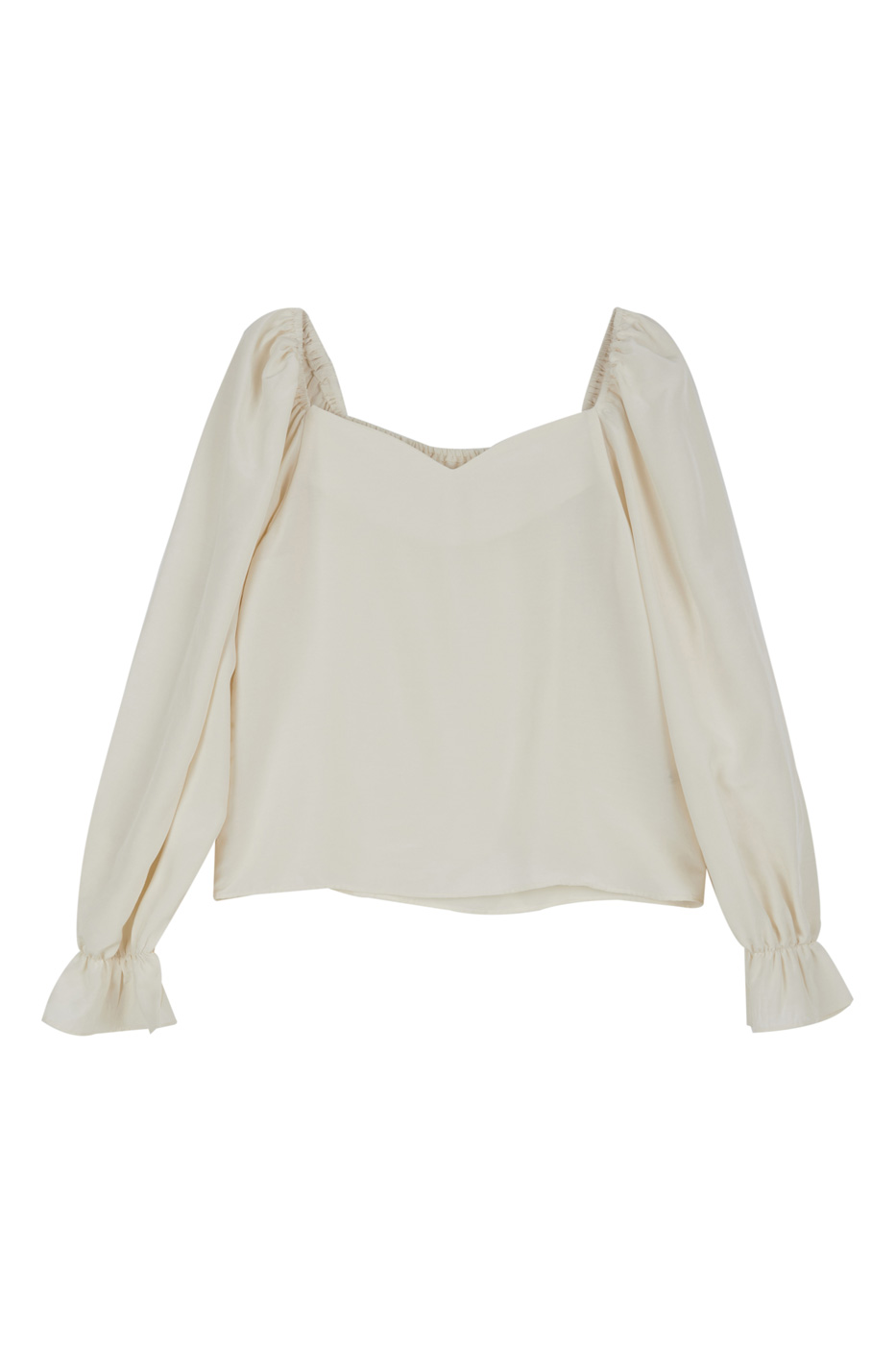 Ray Heart square-neck blouse