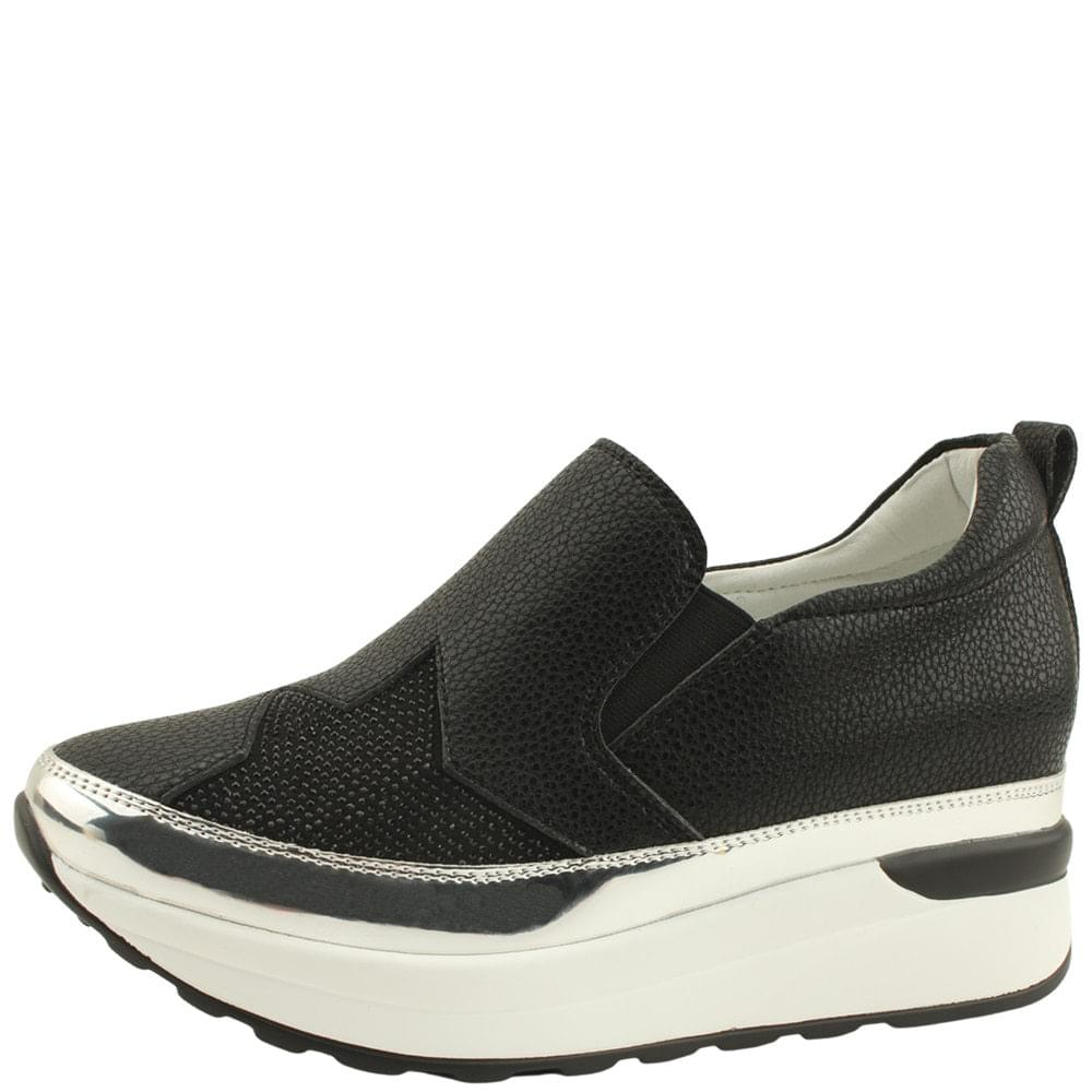 Star Cubic Height Sneakers 7cm Black
