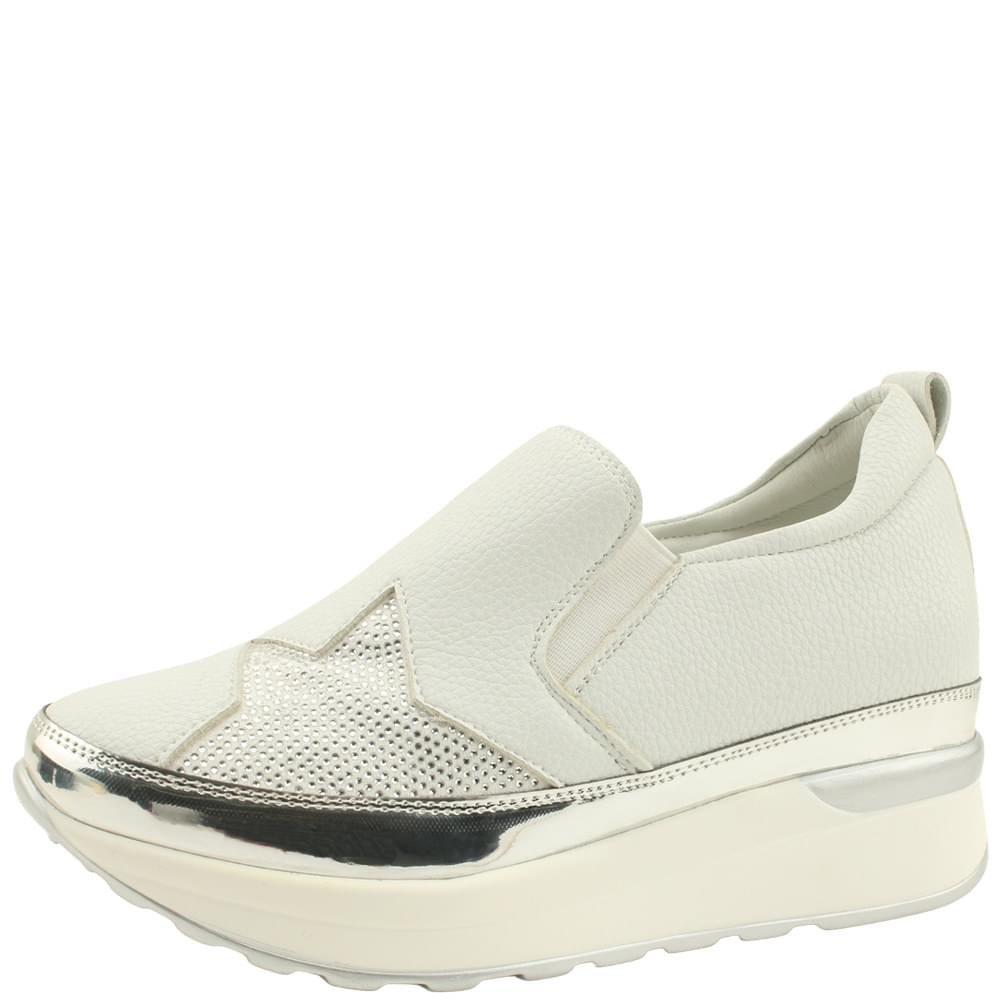 Star Cubic Height Sneakers 7cm White