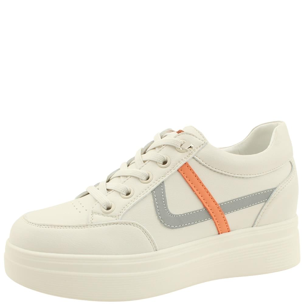 Leather Height Sneakers 6cm Beige