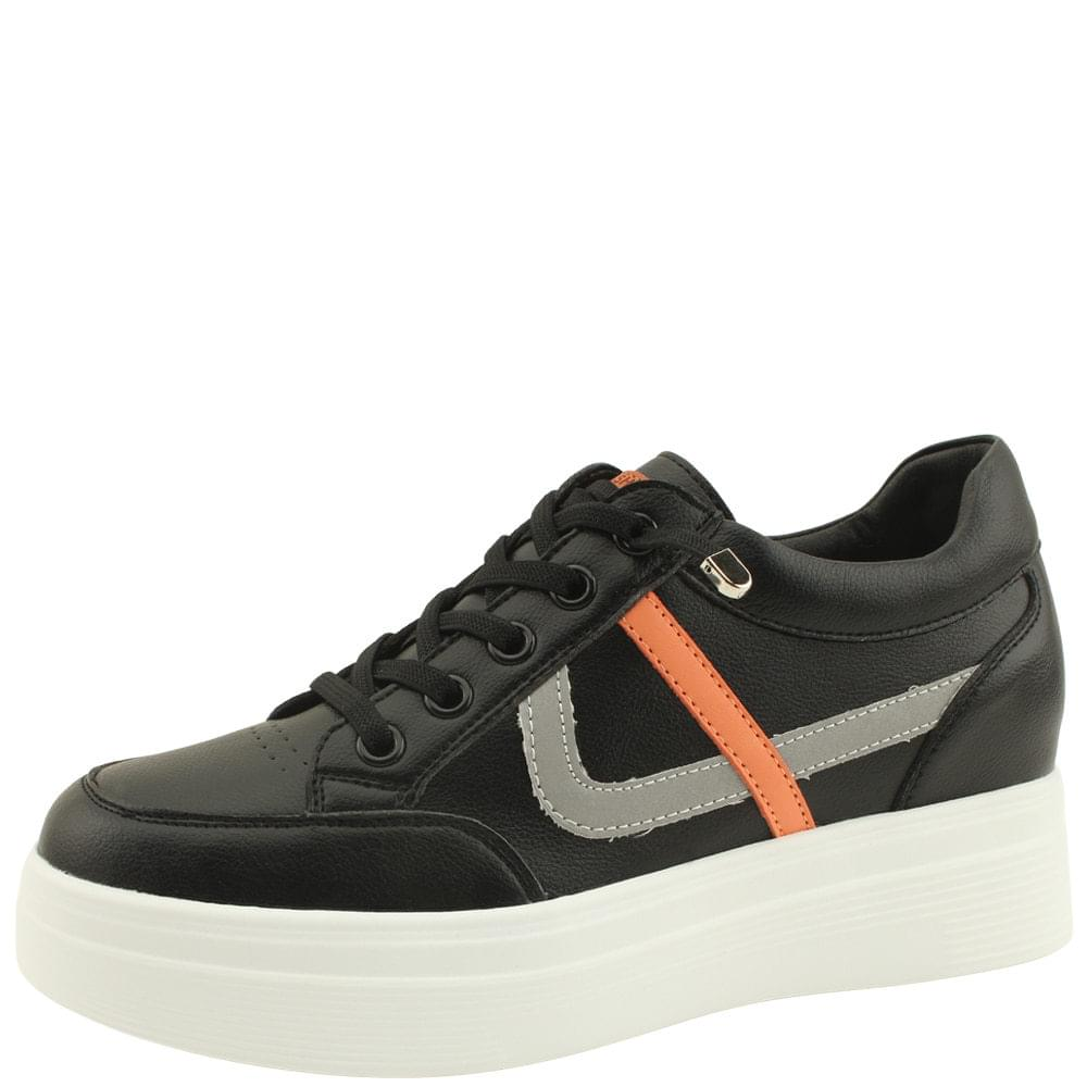 Leather Height Sneakers 6cm Black