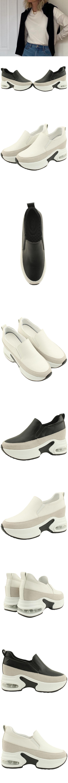 Cowhide Air Height Sneakers 8cm White