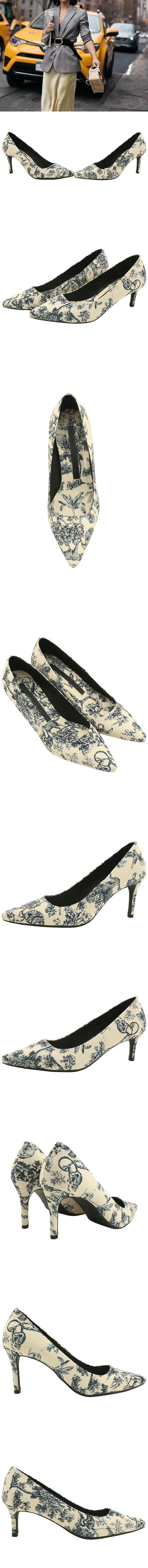 Flower Pattern Stiletto High Heels 6cm 8cm