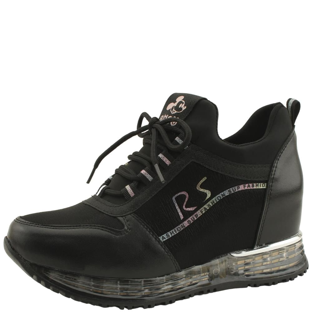 Cushioning Height Sneakers 7cm Black