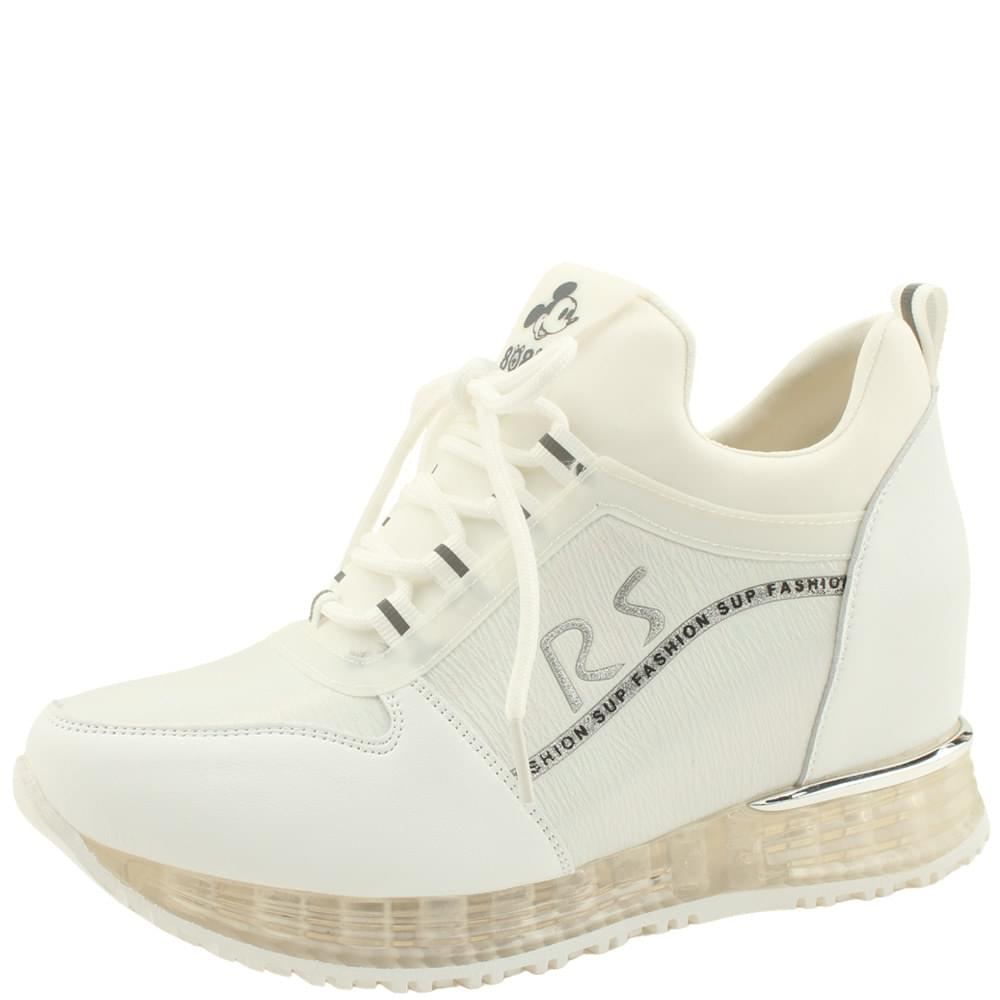 Cushioning Height Sneakers 7cm White