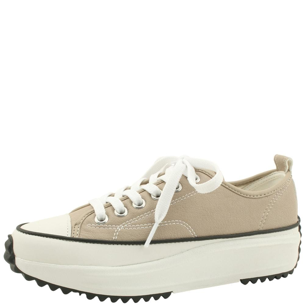 Star Lace-up Cushion Sneakers Beige