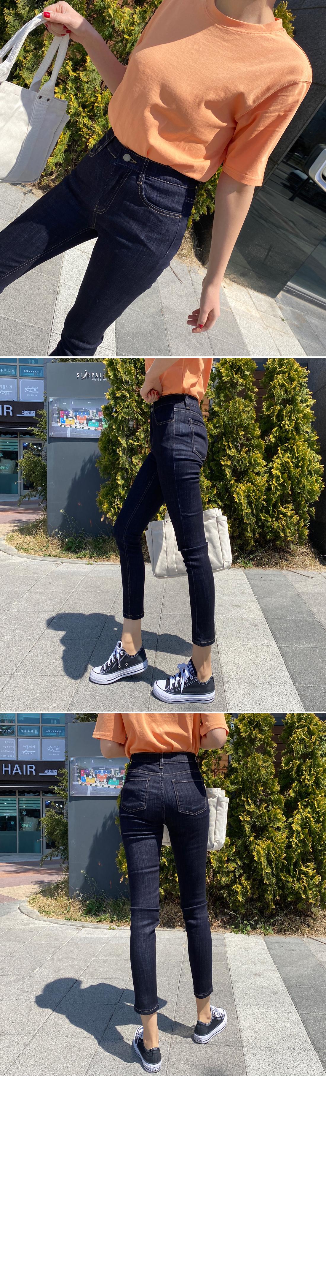 Mid Raw Slim Date Jeans